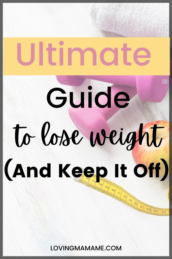 Pinterest photo for weight lose guide