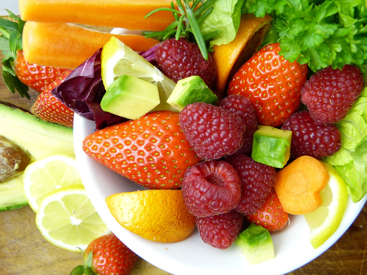 fruit, avocado, lemon