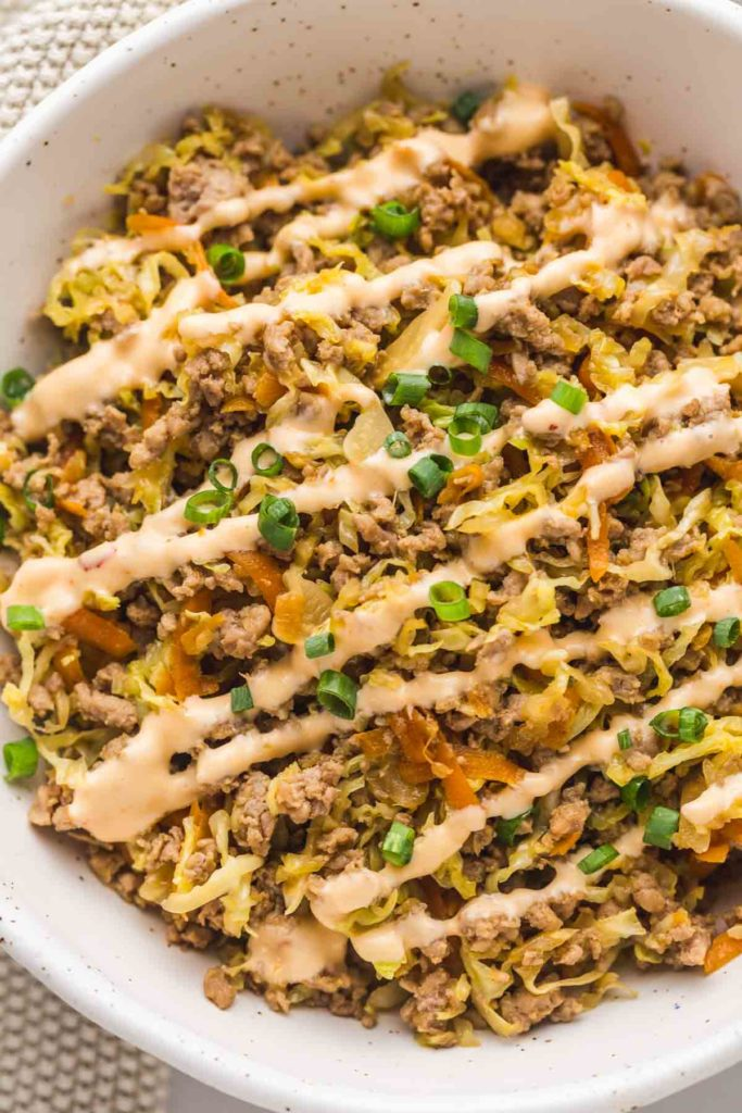 Healthy Egg Roll in a Bowl
