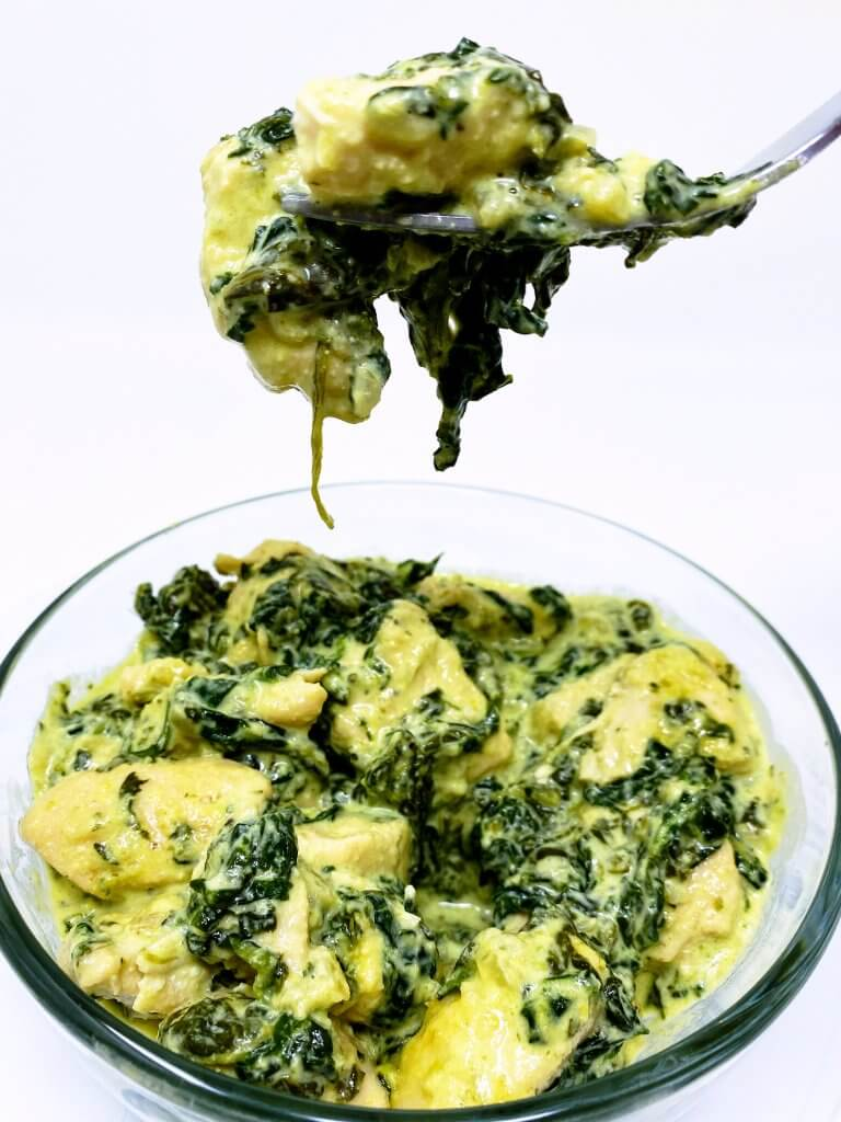 Chicken Tenderloin with Creamy Spinach Sauce